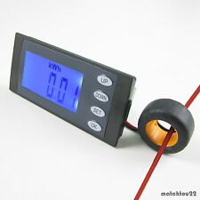 5 in 1AC264V100A Digital Combo Panel Meter Volt Amp kWh Watt Working Time + CT