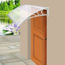 White Door Canopy Awning Rain Shelter Front Back Porch Outdoor Shade Patio Roof