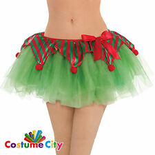 Womens Ladies Christmas Elf Tutu Skirt Fancy Dress Party Costume Accessory