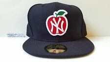 New Era Fitted Hat Adult Size 8 Yankees NYC Big Apple Blue limited