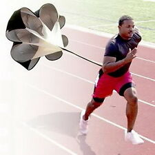 Running Power Chute Speed Training Resistance Exercise Parachute Black MC