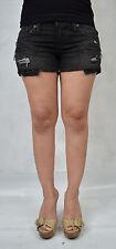 Work Custom Jeans Phantom Black Denim Shorts 26 Womens USA