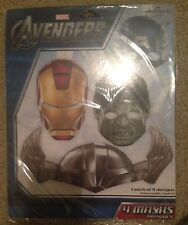 THE AVENGERS Marvel Super Heroes 4 Masks Birthday Party Supply Favors NIP