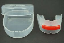2x Silica gel Double teeth Bruxism protection Boxing basketball Sport mouthguard