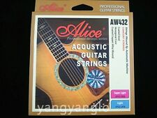 Alice AW432P-L Acoustic Guitar Strings Hexagonal Core Coated Copper Alloy Wound