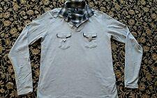 SILVER LEONI Henley T-shirt Taglia 4