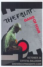 THE FAINT & GANG OF FOUR 2016 Gig POSTER Portland Oregon Concert