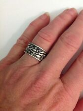 "Sterling silver bible verse ring John 15:5- ""I am the vine.."" Size 7  130-20"