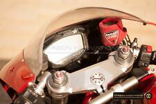 DUCATI 1098 1198 848 EVO LUXURY CARBON FIBER GAUGE DASH BOARD COVER Dry Pre-Preg