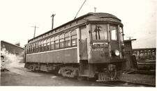 5B803 RP 1957 BC ELECTRIC RAILROAD TRAIN CAR #1202 AT VANCOUVER