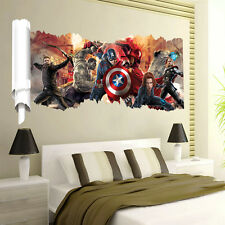 Removable 3D The Avengers Scroll Wall Sticker Home Decor Mural Decal Kids Room