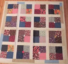 Quilt Throw Blanket Machine Stitched Patchwork Comforter