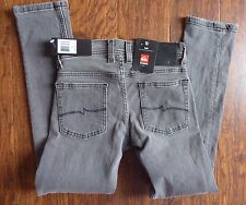 Quiksilver Big Boys' Distortion Slim Pant Jeans Grey 22 NEW