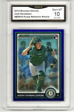2010 BOWMAN CHROME PURPLE REFRACTOR JOSH DONALDSON ROOKIE TORONTO BLUE JAYS