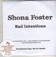 (CB957) Shona Foster, Bad Intentions - 2011 DJ CD