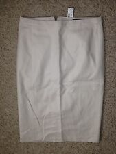 J Crew No. 2 Pencil Skirt Cotton Twill $110 Natural Size T2 2T NWT A3261