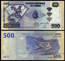 CONGO 500 FRANC 2002 P 96 UNC BUNDLE OF RADAR SERIAL # 1110111