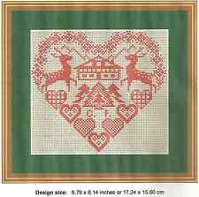 CHRISTMAS HEART SAMPLER  - CROSS STITCH CHART