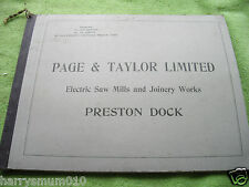 Antique woodworking machinery catalogue Page & Taylor Ltd Preston dock