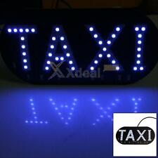Auto White 45 LED Cab Taxi Roof Sign Light Vehical Inside Windscreen Lamp 12V DC