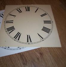"""Paper Clock Dial - 9"""" (M/T) - Roman Numerals - Matt Cream  -Face / Clock Parts"""