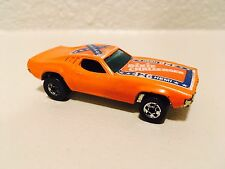 Hot Wheels Dixie Challenger 426 Hemi Orange w/ Rare Flag 1970 Hong Kong Vintage