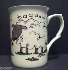Sheep Baaaa Fine Bone China Mug Cup Beaker (also comes in cow & pig)