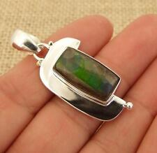 *To Clear* Ammolite 925 Silver Pendant Indian Jewellery