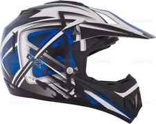 New XS / X SMALL Kimpex CKX TX529 Off Road Motocross Helmet Blue White #1943