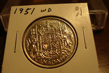 1951 Wide Date - Canada 50 cent - Circulated Canadian half dollar - Nice Coin -