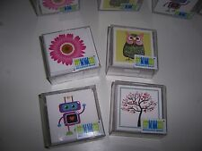 Littleput Land 15 Mini Notes & Envelopes 5 designs/box Owl Robot Daisy Lovebirds