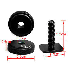 Metal 1/4 Inch Dual Nuts Tripod Mount Screw to Flash SLR Camera Hot Shoe Adapter