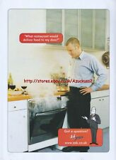 "Ask Jeeves ""Restaurant Would Deliver Food To My Door"" 2001 Magazine Advert #403"