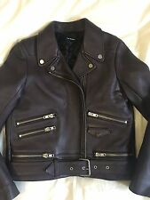 The Kooples Leather Biker Jacket Womens Size Small Brand New