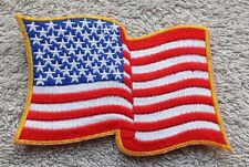 USA WAVING AMERICAN FLAG PATCH Cloth Badge/Emblem Biker Jacket Bag Iron Sew
