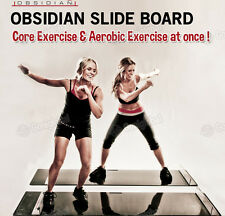 OBSIDIAN Slide Board / Easy Fun Core&Aerobic Exercise! / Crazy Abs&Pure Cardio