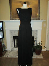 TED BAKER LONDON Black Lace Detailed Vintage Maxi Dress NWOT Size 1 (4 US)