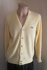 IZOD LACOSTE VINTAGE Yellow Alligator 100% Orlon Acrylic Golf Sweater L Large
