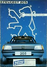 Peugeot 205 Sales Brochure - September 1983