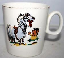 VINTAGE RETRO FUNKY F.R. GRAY & SONS NORMAN THELWELL PONY CARTOON TEA CUP MUG