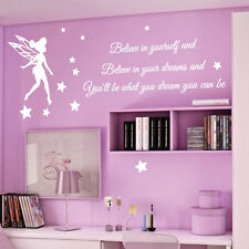 Tinkerbell Stars Children Nursery Wall Stickers Quotes Wall Decals Wall Arts 43