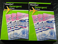 """WOOLITE "" 10 PACK TRAVEL SIZE- SETS OF 2 - FOR DELICATE WASHABLES-  BRAND NEW"