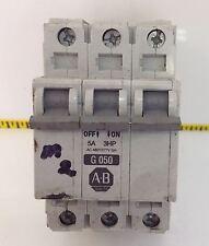 ALLEN BRADLEY  3 POLE 5AMP CIRCUIT BREAKER LOT OF 2 1429-CB3G050