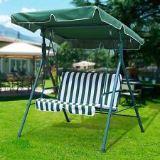 Green Outdoor Patio Swing Canopy Awning Yard Furniture Hammock Steel 2 Person