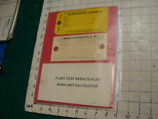 telephone item: mounted 2 Southwestern bell tags & plant cost results plan book