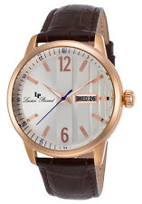 Lucien Piccard Milanese Date Day Mens Watch 40027-RG-02S-BRW