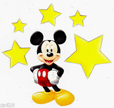 """4"""" DISNEY  MICKEY MOUSE & STARS CHARACTER PREPASTED WALLPAPER BORDER CUT OUTS"""