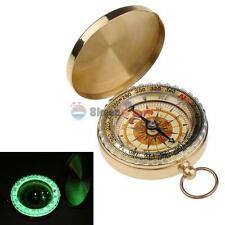 Brass Pocket Watch Style Outdoor Camping Hiking Compass Navigation Keychan New