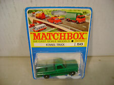 MATCHBOX LESNEY CANADIAN BLISTER CARD #50 KENNEL TRUCK NEW