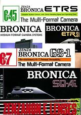 14 full colour Bronica Brochures on USB or CD - ETRS / ETRSi / SQ / SQ-A / GS-1